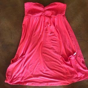 Victoria's Secret strapless summer dress.